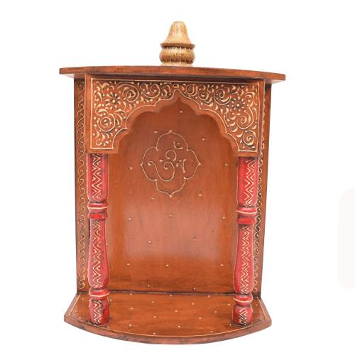 WOODEN WALL HANGING MANDIR