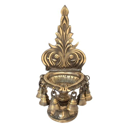 BRASS DIYA WITH BELL