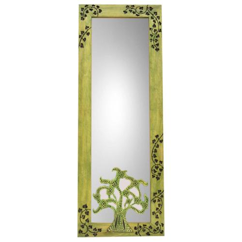 WOODEN CARVING MIRROR