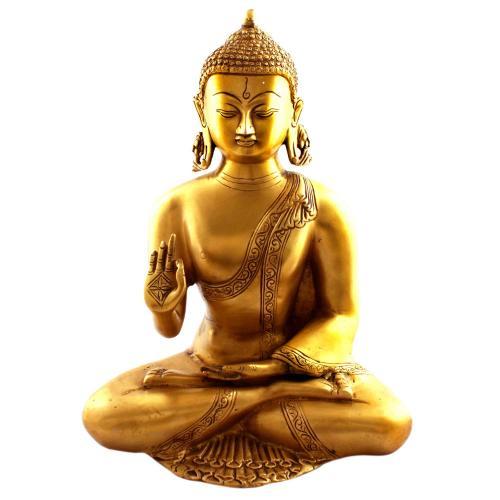 BRASS MEDITATION BUDDHA SITTING