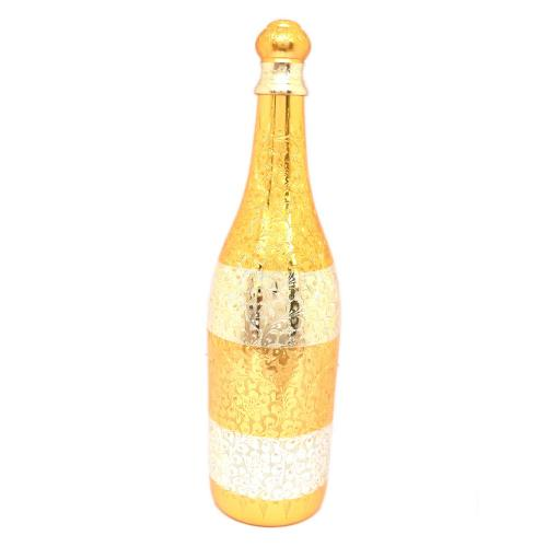 22 CT GOLD PLATED DUAL TONE BEER BOTTLE HOLDER WITH ENGRAVED WORK