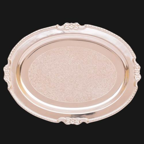 SILVER PLATED PLATE ENGRAVED WORK