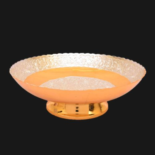 22 CT GOLD PLATED BOWL WITH DUAL TONE