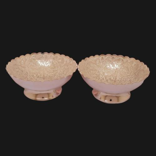 SILVER PLATED BOWL SET OF 2 PCS