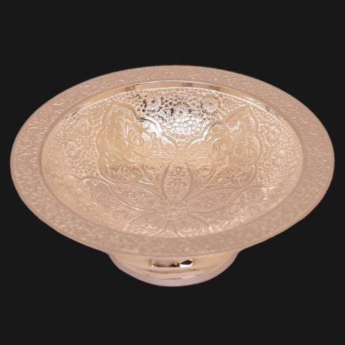 SILVER PLATED BOWL WITH ENGRAVED WORK