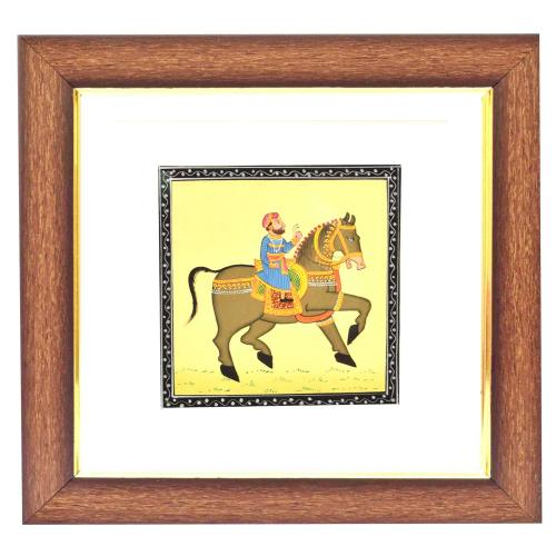 SILK PAINTING PA RIDING HORSE