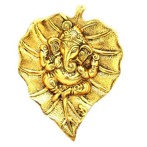 WALL HANGING LEAF GANESHA