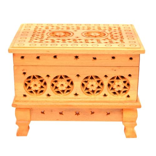 SANDALWOODE CARVING JEWELLERY BOX