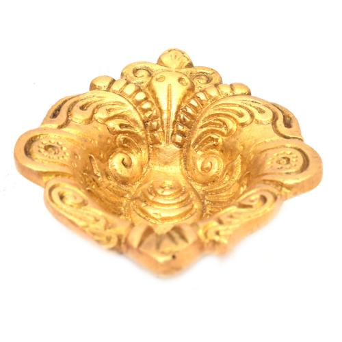 BRASS DIYA CARVED FLOWER DESIGN