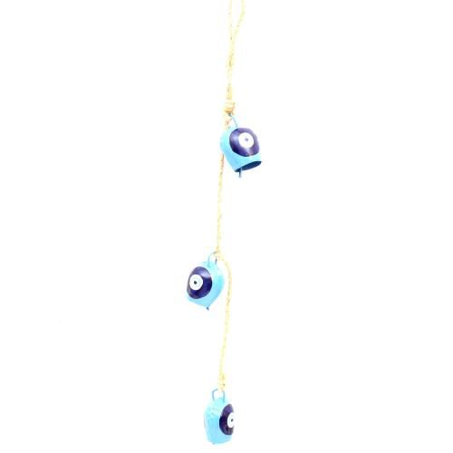 3 BELL CHAIN ON BLUE