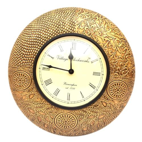 PA 415V BRASS WALL CLOCK