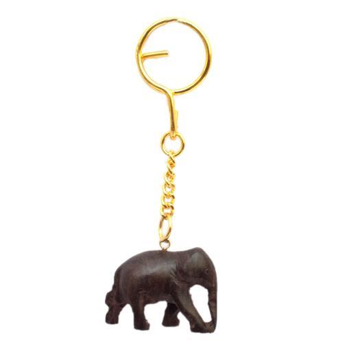 ROSEWOOD ELEPHANT KEYCHAIN