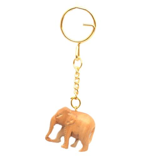 SANDAL WOOD ELEPHANT KEYCHAIN