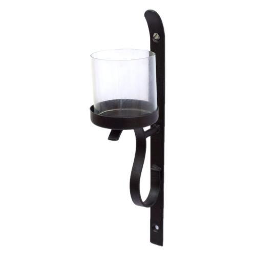 WALL HANGING CANDLE STAND WITH GLASS
