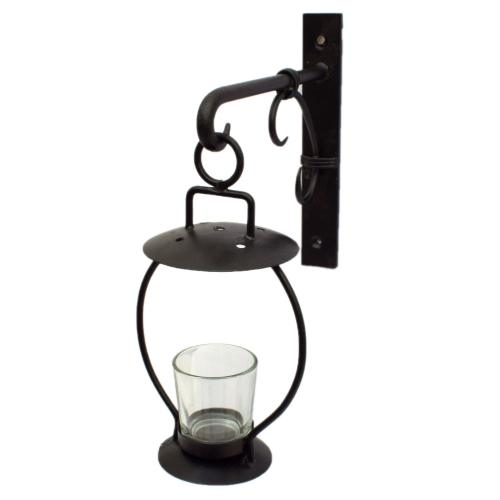 WALL CANDLE STAND WITH GLASS