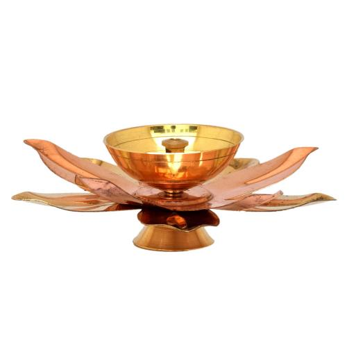 BRASS/COPPER LOTUS DIYA