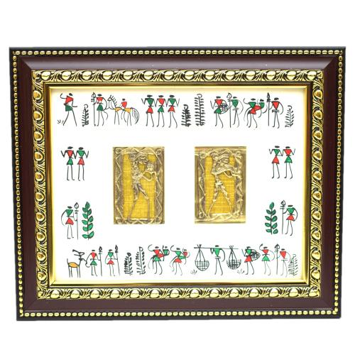 DHOKRA FRAMED WALL HANGING