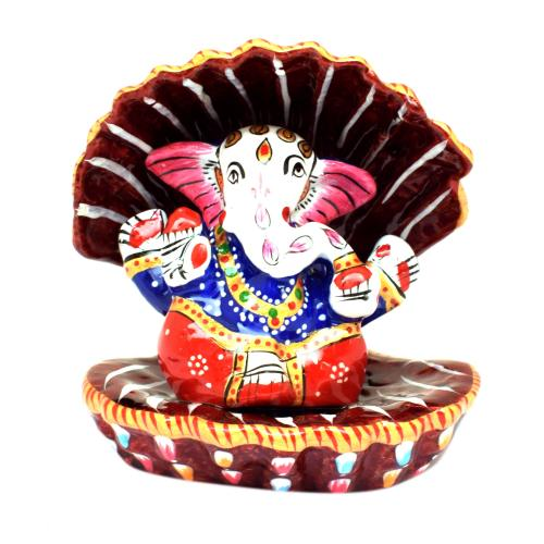 GANESHA SITTING IN SHELL