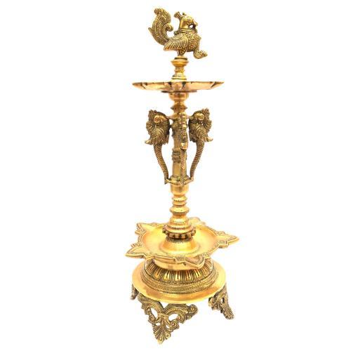 BRASS ANNAPAKSHI OIL LAMP