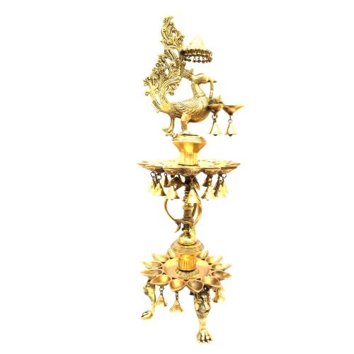 BRASS PEACOCK 3 STEP DIYA