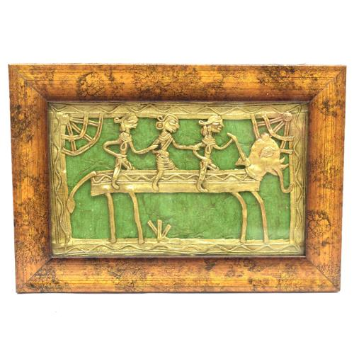 DHOKRA PANEL WITH FRAME WALL HANGING