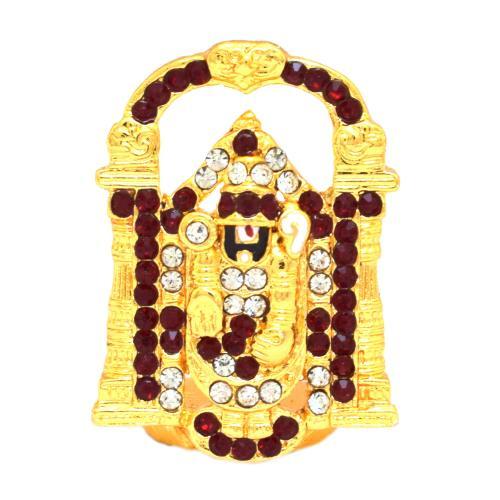 CRYSTAL IDOLS BALAJI STANDING WITH PRABHAVALIID-101(S)