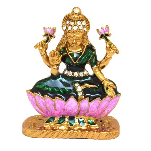 CRYSTAL IDOLS LAKSHMI SITTING ON LOTUS ANTIQUE	ID 426