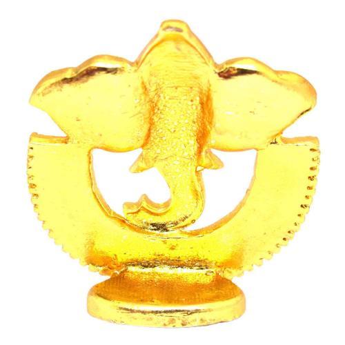 CRYSTAL IDOLS GANESHA IN HAKLF RING ID-044