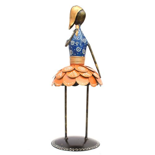 DECORATIVE HANDICRAFTS LADY MUSICIAN STANDING