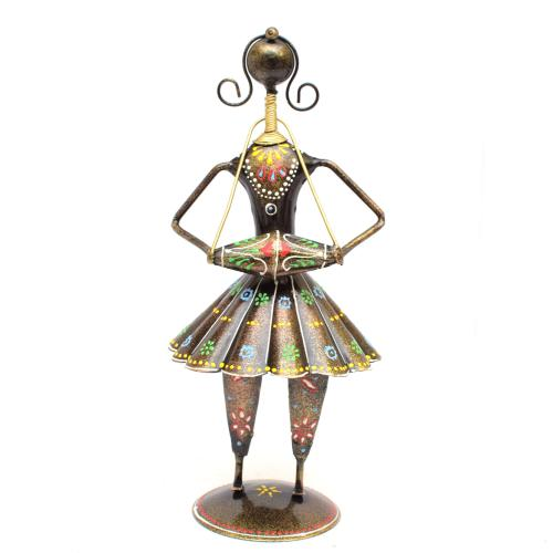 DECORATIVE HANDICRAFTS PAINTED LADY MUSICIAN STANDING