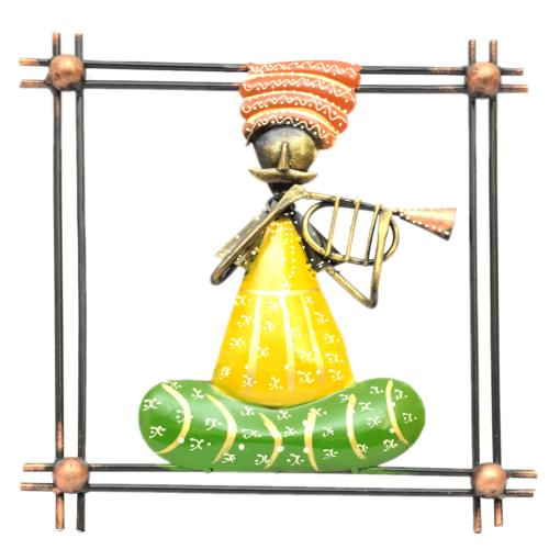 DECORATIVE HANDICRAFTS BABA MUSICIAN PANEL WALL HANGING