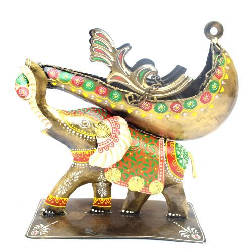 DECORATIVE HANDICRAFTS ELEPHANT WINE BOTTLE STAND