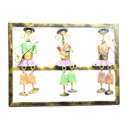 DECORATIVE HANDICRAFTS 3 DAY MUSICIAN HANGING LEG PANEL