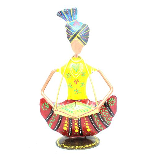 DECORATIVE HANDICRAFTS PAINTED SITTING SARDAR GHAGRA MUSICIAN