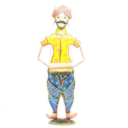 DECORATIVE HANDICRAFTS PAINTED RAJASTHANI BABA  MUSICIAN