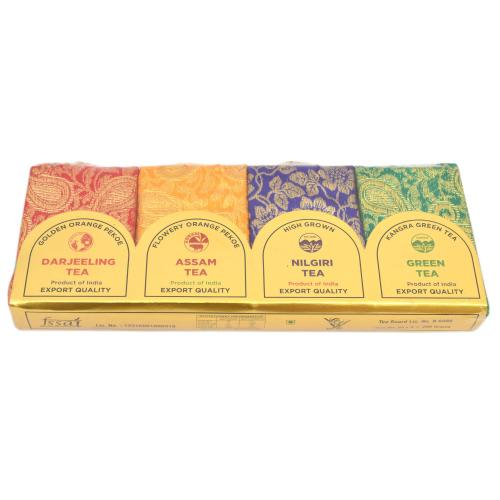 DARJEELING ,ASSAM,NILGIRI,GREEN TEA SET OF 4 EXPORT QUALITY