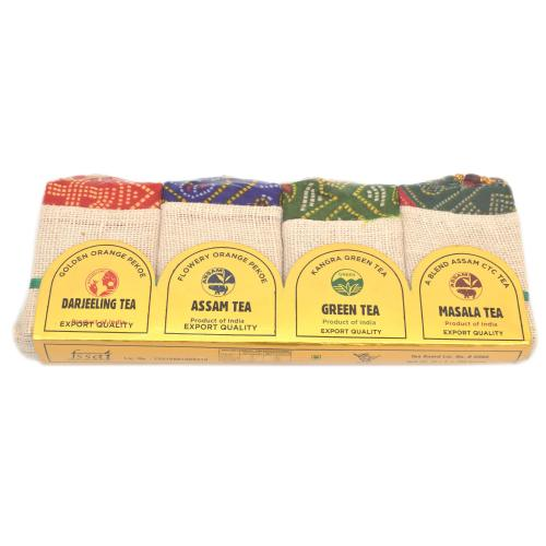DARJEELING,ASSAM,MASALA,GREEN TEA SET OF 4