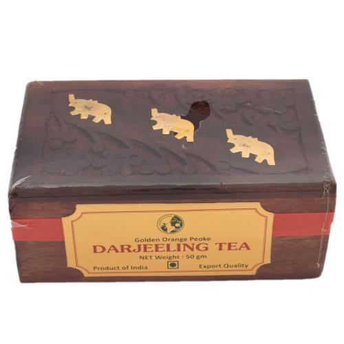 DARJEELING TEA POWDER WITH WOODEN BOX