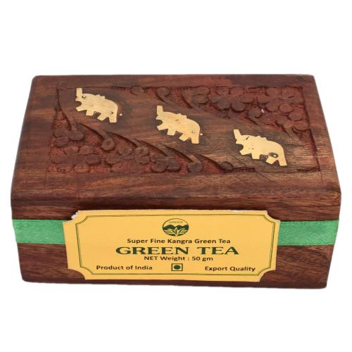 GREEN TEA POWDER WITH WOODEN BOX