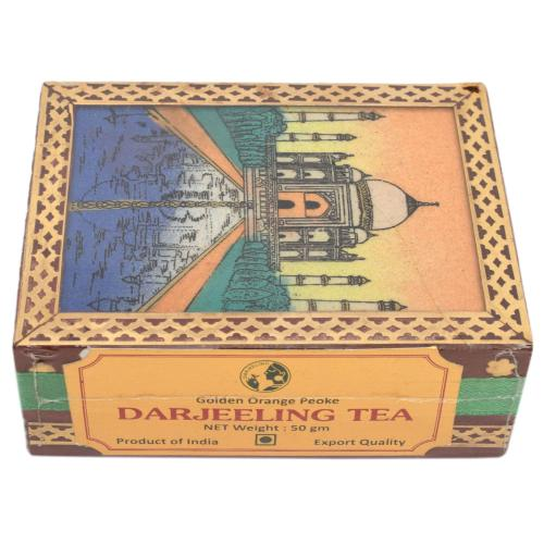 DARJEELING TEA POWDER WITH WOODEN GEM STONE  BOX