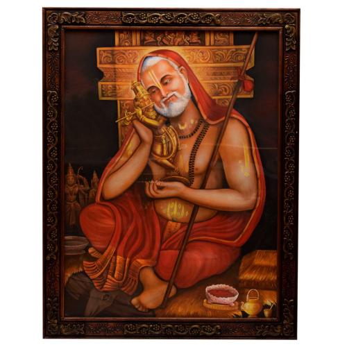 RAGHAVENDRA HAND MADE PAINTING WITH WOODEN FRAME