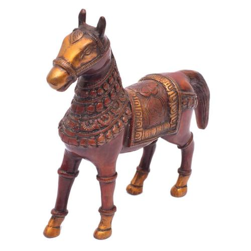 BRASS HORSE STANDING COPPER FINISH