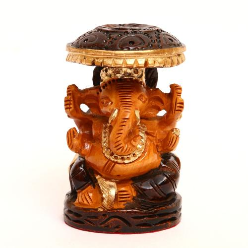 WOODEN GANESHA CHATRI PAINTED