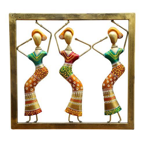 DECORATIVE HANDICRAFTS LADY DANCING  PANEL