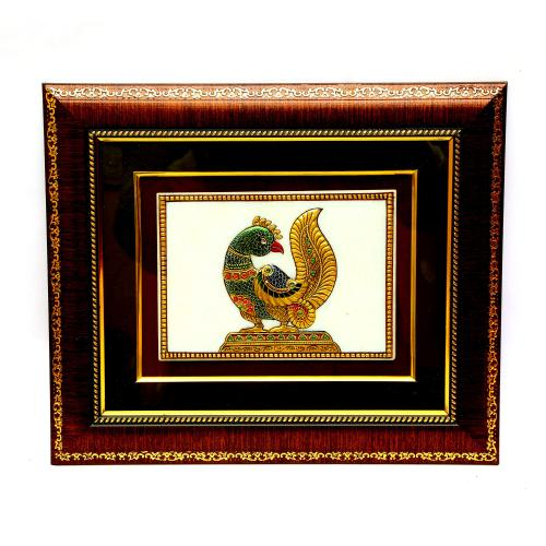 MARBLE TILE HAND MADE PAINTING PARROT
