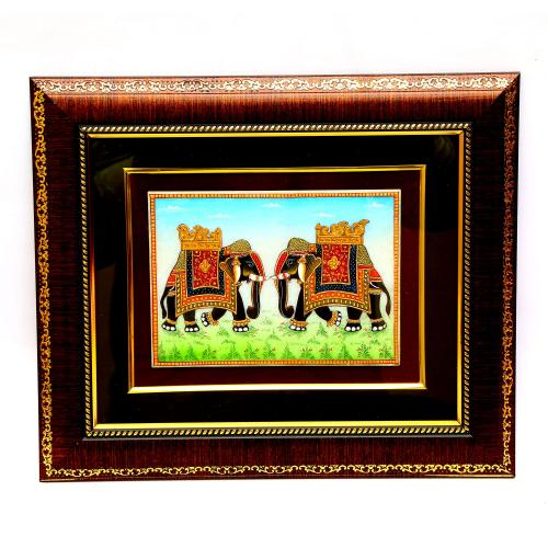 MARBLE TILE HAND MADE PAINTING ELEPHANT