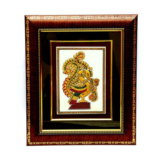 MARBLE TILE HAND MADE PAINTING ANNAPAKSHI