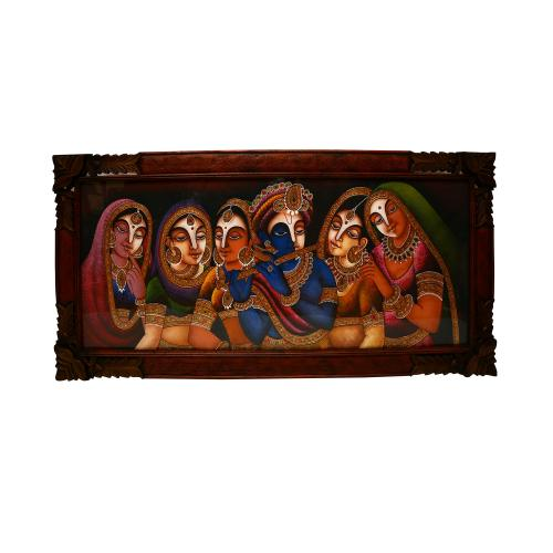 HAND MADE PAINTING  RADHA KRISHNA