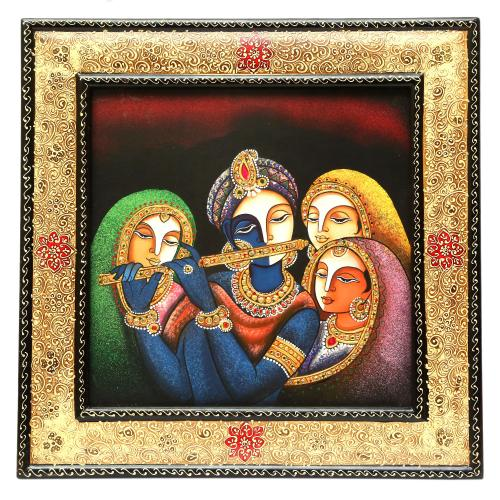 HAND MADE PAINTING  RADHA KRISHNA FACE