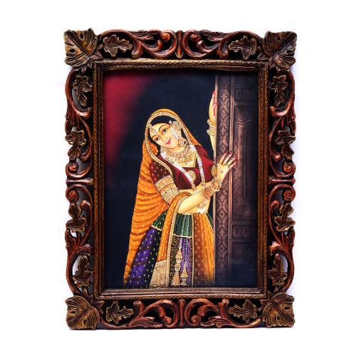 HAND MADE PAINTING  LADY STANDING